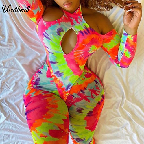 Women Jumpsuit Long Sleeve Off Shoulder Sexy Hot Rompers