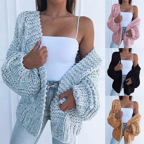 Cardigan Sweater Women Plush Loose and Plus Size 4XL Women's Sweater Clothing