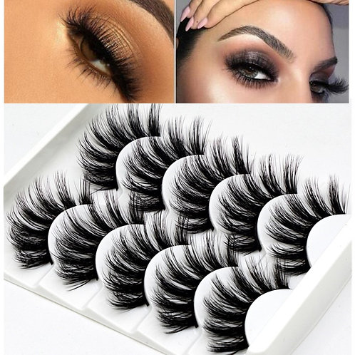 Mink Eyelashes 5 Pairs Natural Eyelash Extension Beauty Makeup False Eyelashew