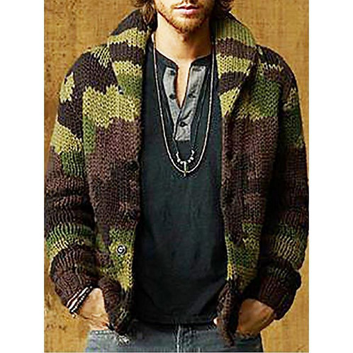 Mens Sweaters Autumn Cardigan Long Sleeve Jackets Mens Knitted Coats Plus Size