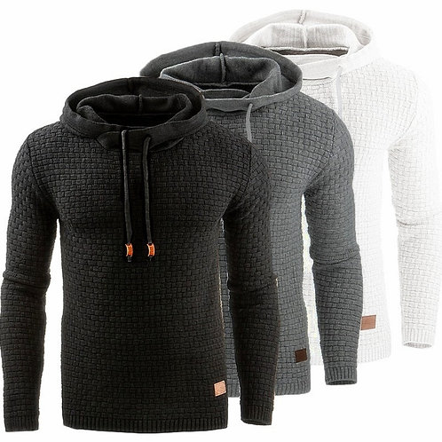Sweater Warm Knitted Men's Sweater Casual Hooded Men Cotton Pull Plus Size 5XL