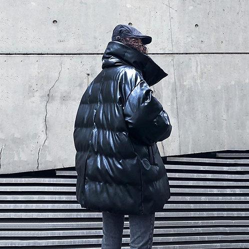 Luna Puff Vegan Leather Coat