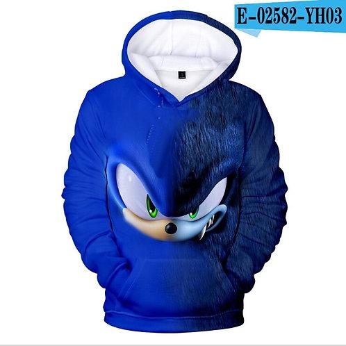 Sonic the Hedgehog 3D Kids Hoodies for Girls Sonic Children's Sweatshirt