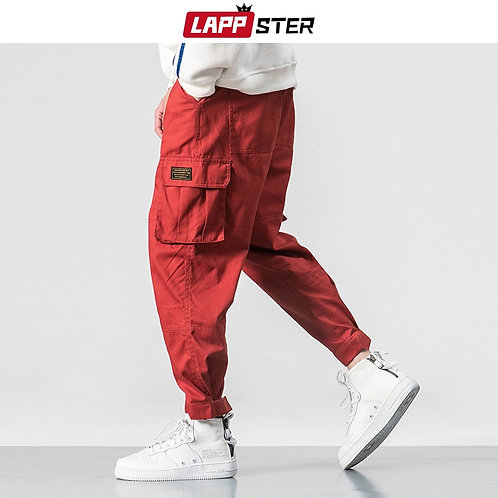 LAPPSTER Winter Streetwear Cargo Pants Men 2020 Plus Size