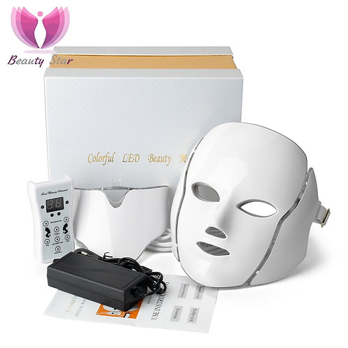 7 Color LED Facial Neck Mask With EMS Microelectronics