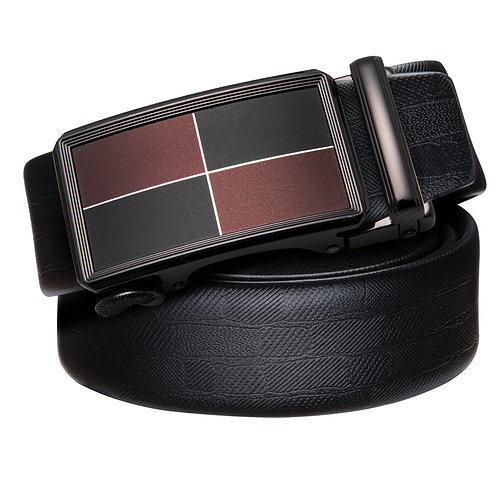 Luxury Desinger Belts for Men Black Leather Belt