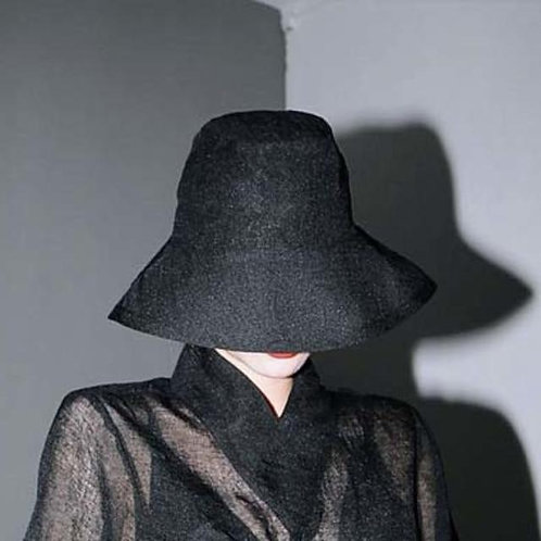 Hakaku Fishermen Hat - Black