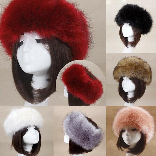 2019 Winter Thick Furry Hairband Fluffy Russian Faux Fur Women Girl Fur Headband