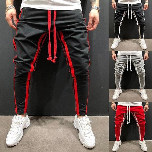Men's Striped Pants Streetwear Plus Size
