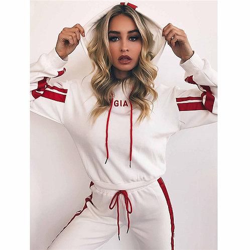 Women Hoodies Casual Tracksuit Suits Sweatshirt+Sweatpants Set