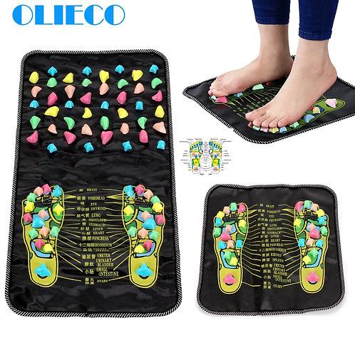 OLIECO Feet Massage Pad Chinese Feet Reflexology Pain Relieve Mat