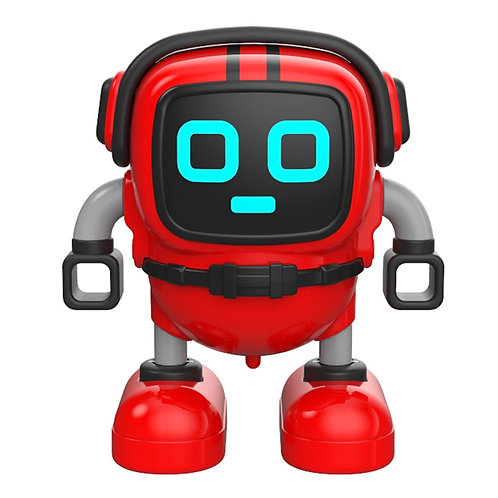 Children Early Education Gyro Robot Multiple Gameplay Robot DIY Red