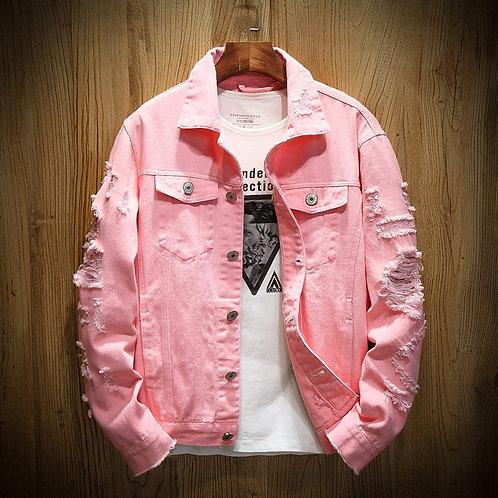 2020 Autumn New Men's Jean Jacket Slim Fit Cotton Denim Jacket Plus Size