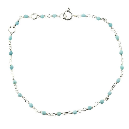 Aphrodite Silver Turquoise Layered Bracelet