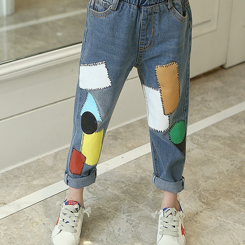 2019 Autumn New Arrival Kid Printed Jeans