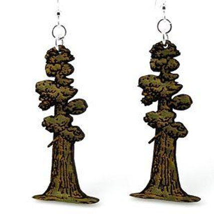 Tall Redwood Tree Earrings # 1414