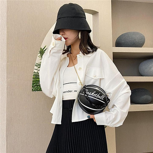 Round Basketball Shoulder Bags