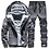 Thumbnail: Men Tracksuit Thick Sweatshirt+Pants Two Piece Set