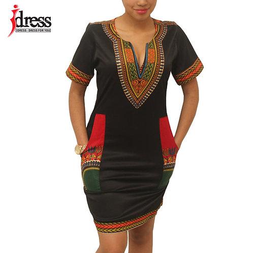 Hambelela Summer Vintage Dress Women Tunic Casual Beach Dress Plus Size