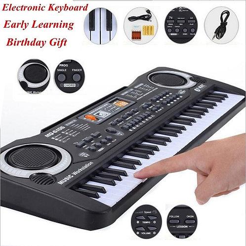 61 Keys Black Digital Music Electronic Keyboard