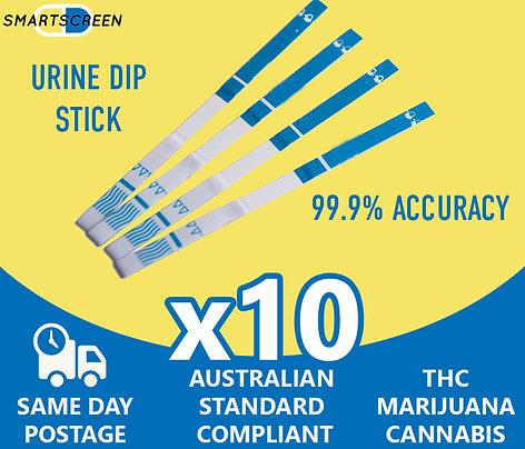 (x10) THC Testing Strips
