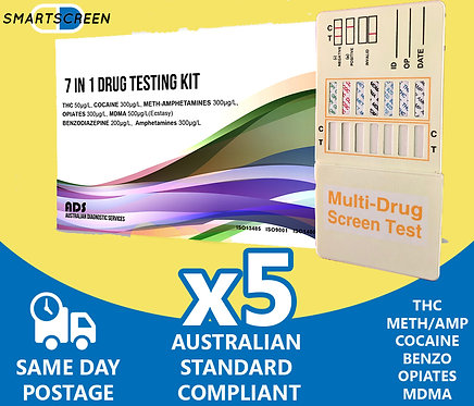7 Drug Urine Drug Test (5 Pack)