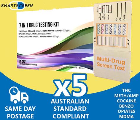 7 Drug Urine Drug Test (5 Pack)