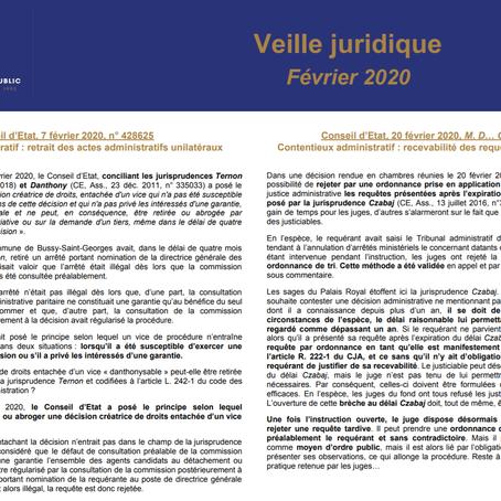 Veille juridique - Février 2020