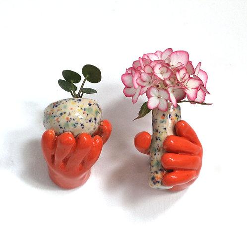 Orange hands