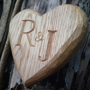 Heart Initials Carving