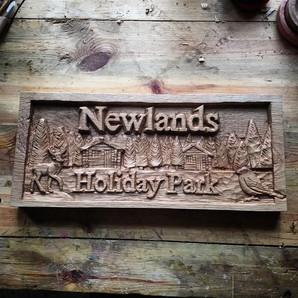 Newlands Holiday Park Sign