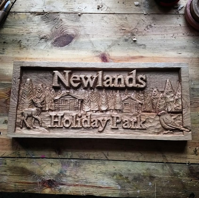 Newlands Holiday Park Sign