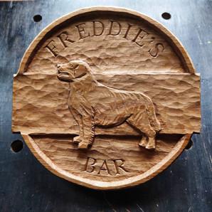 Freddie's Bar Oak Sign