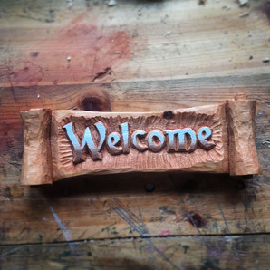 Scroll Welcome Sign