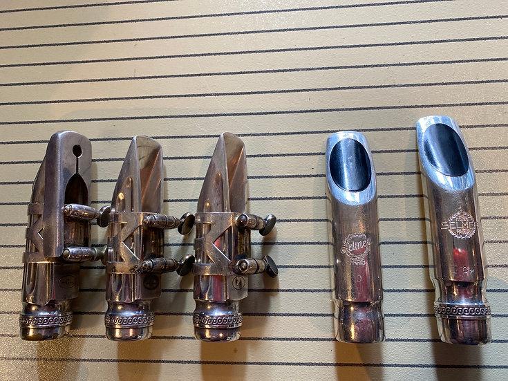Various Selmer Metal Scroll shank Alto Mouthpieces