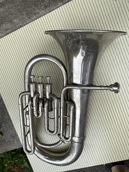 Small 3 Valve Bb Euphonium - unmarked - German/Soviet