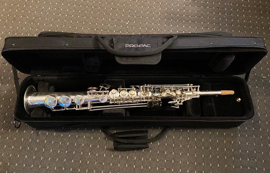 C. 1979 B&S Silver Soprano Saxophone - blue label