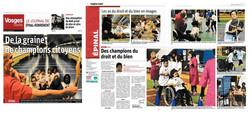 article Vosges Matin 23112017 couverture et double page