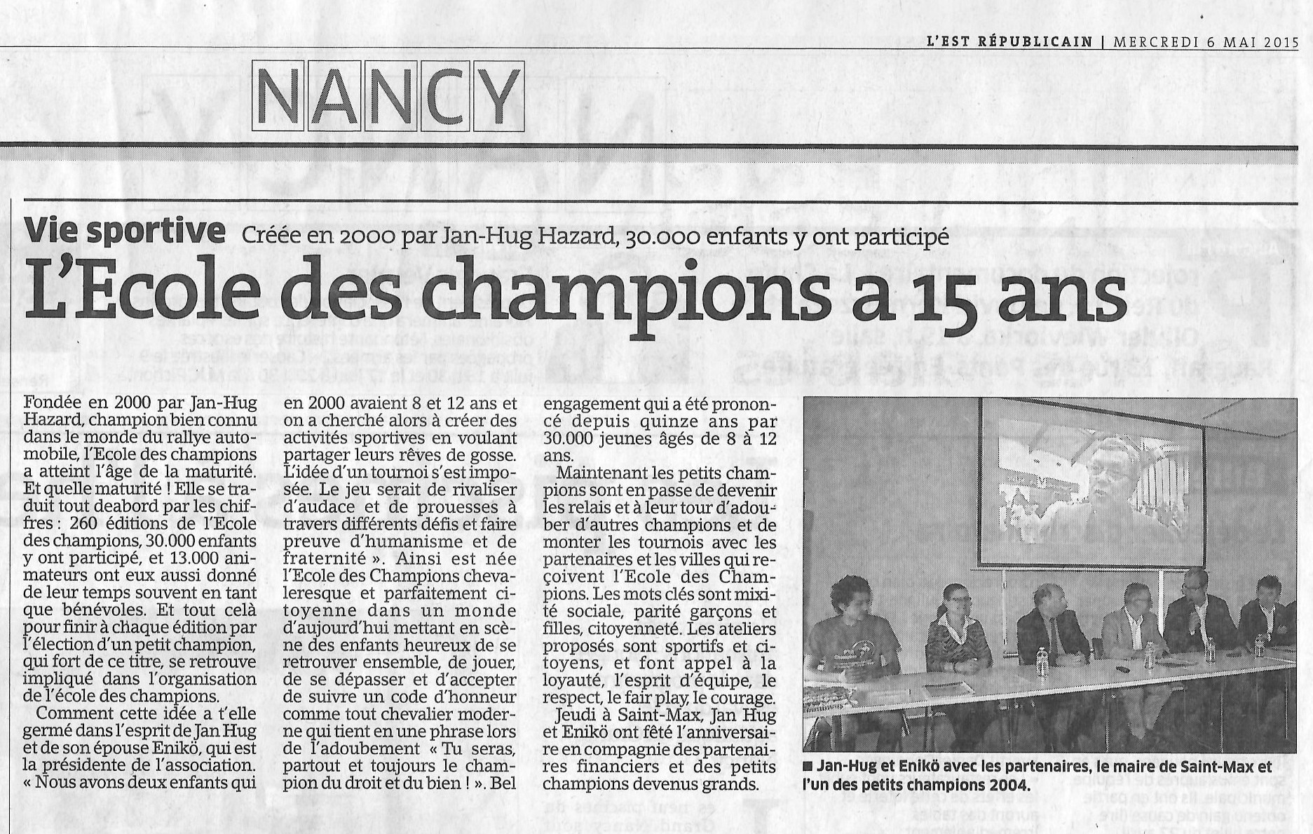 Conférence de presse 29 Avril 2015