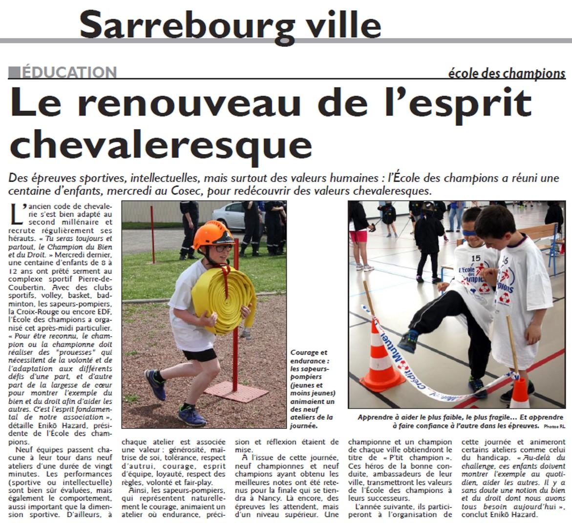 27 avril 2016 - Sarrebourg