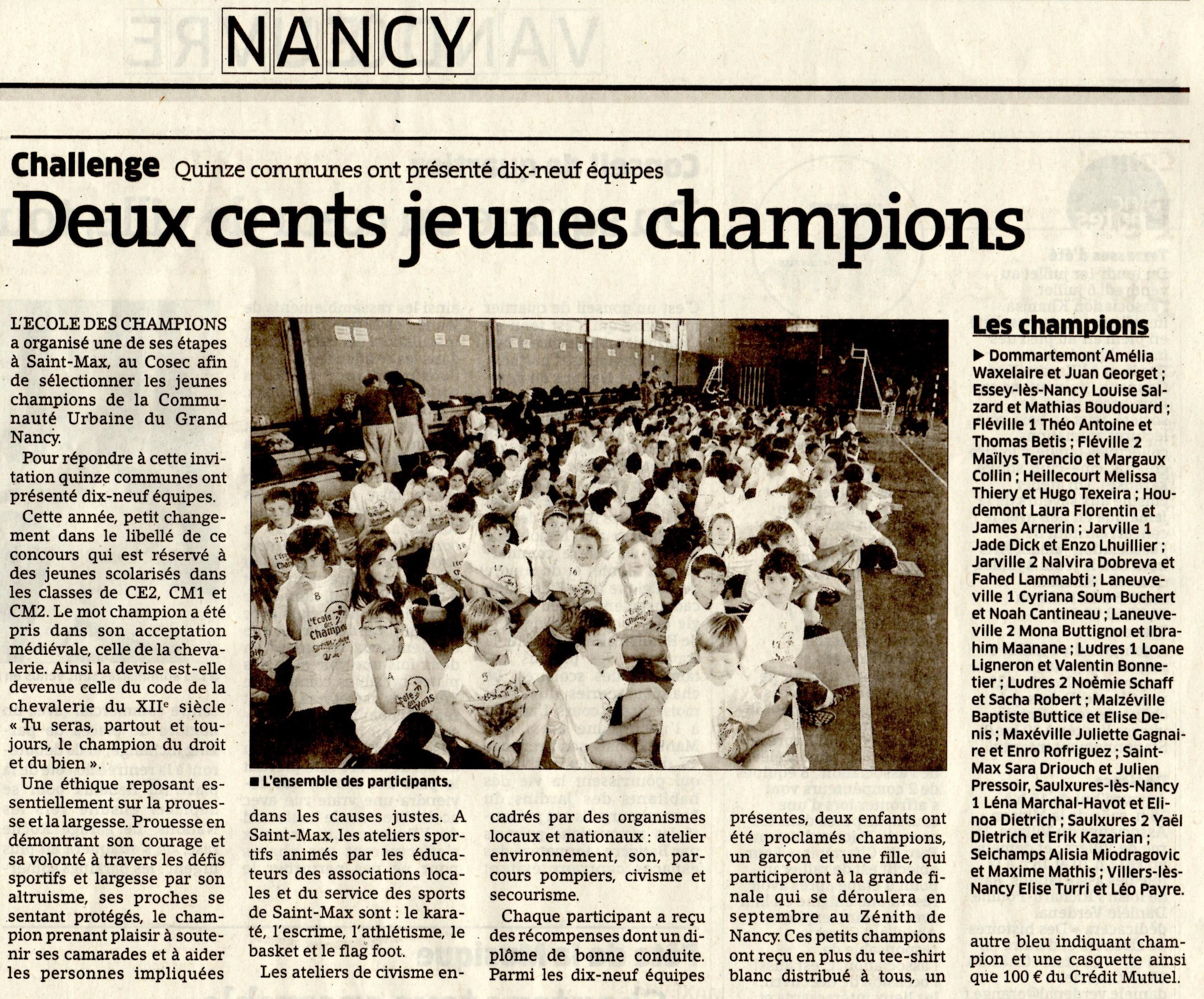 26 juin 2013 - CU Grand Nancy