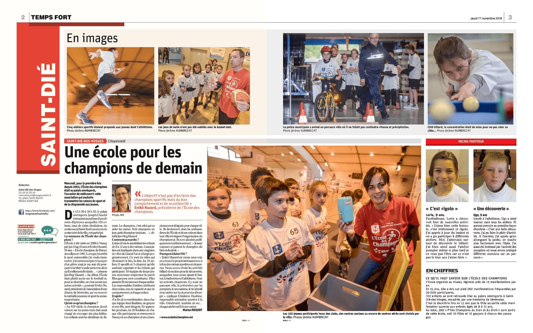 16 novembre 2016 - St-Dié-des-Vosges