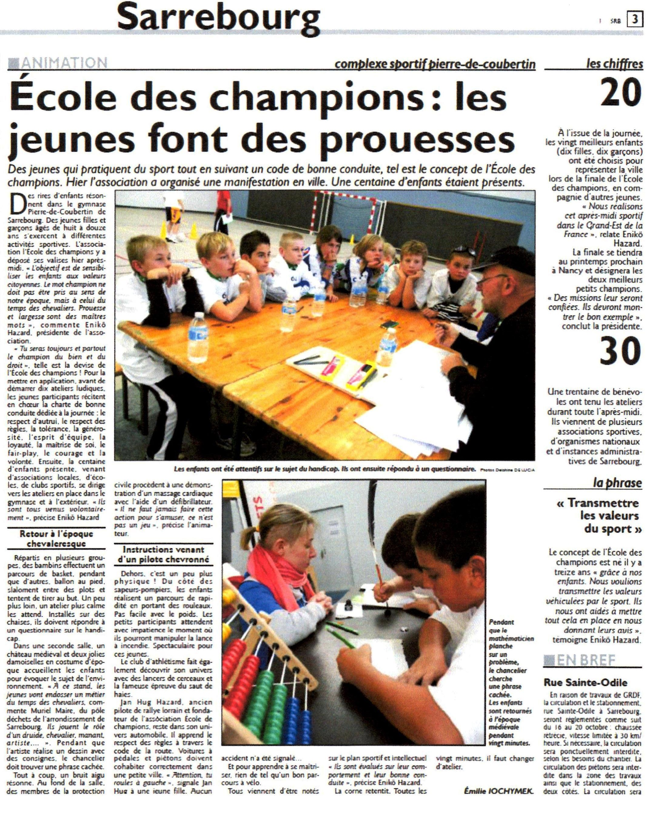 10 octobre 2012 - Sarrebourg