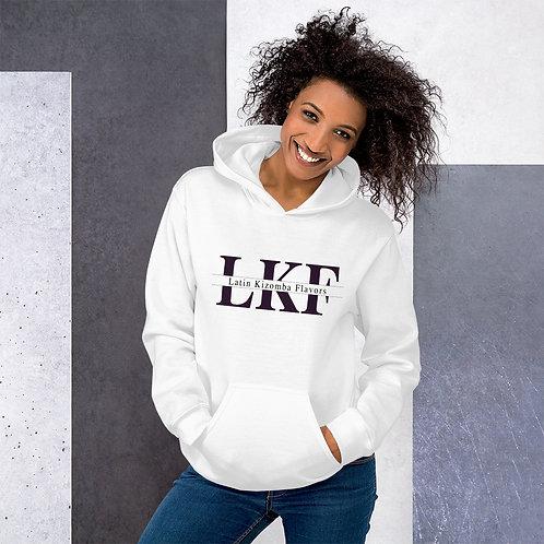 LKF White Unisex Hoodie