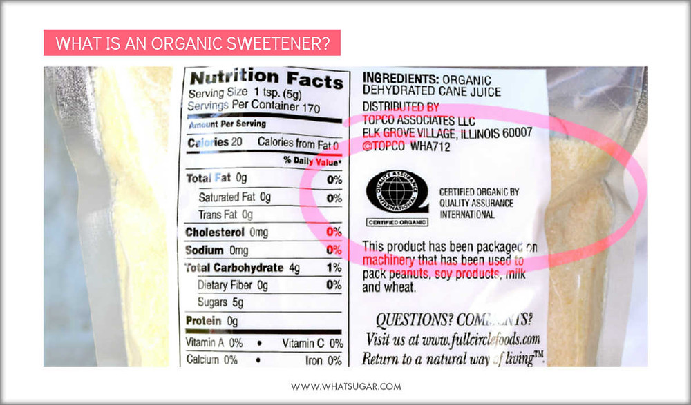 What makes a sweetener organic | what makes maple syrup organic | what makes honey organic | what makes a product organic