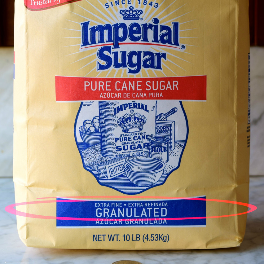 Fine granulated sugar is a refined sugar produced from cane or beet with 99.95 percent sucrose (water being the main remainder). For most sugar manufacturers, it is a white sugar with crystal size ranging from about 0.3 to 0.35mm.