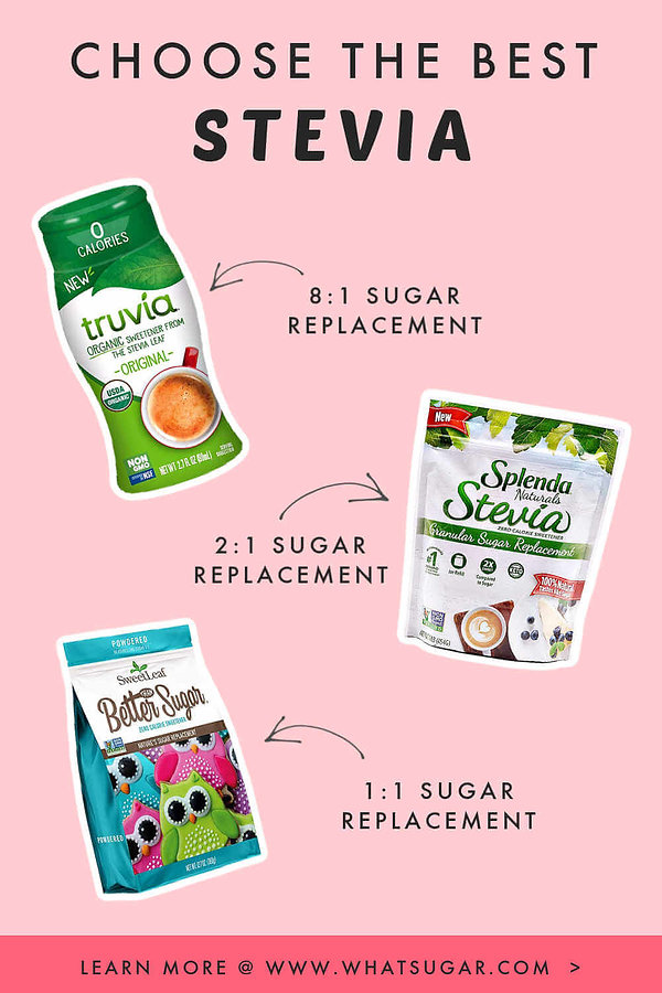 How to substitute stevia for sugar?