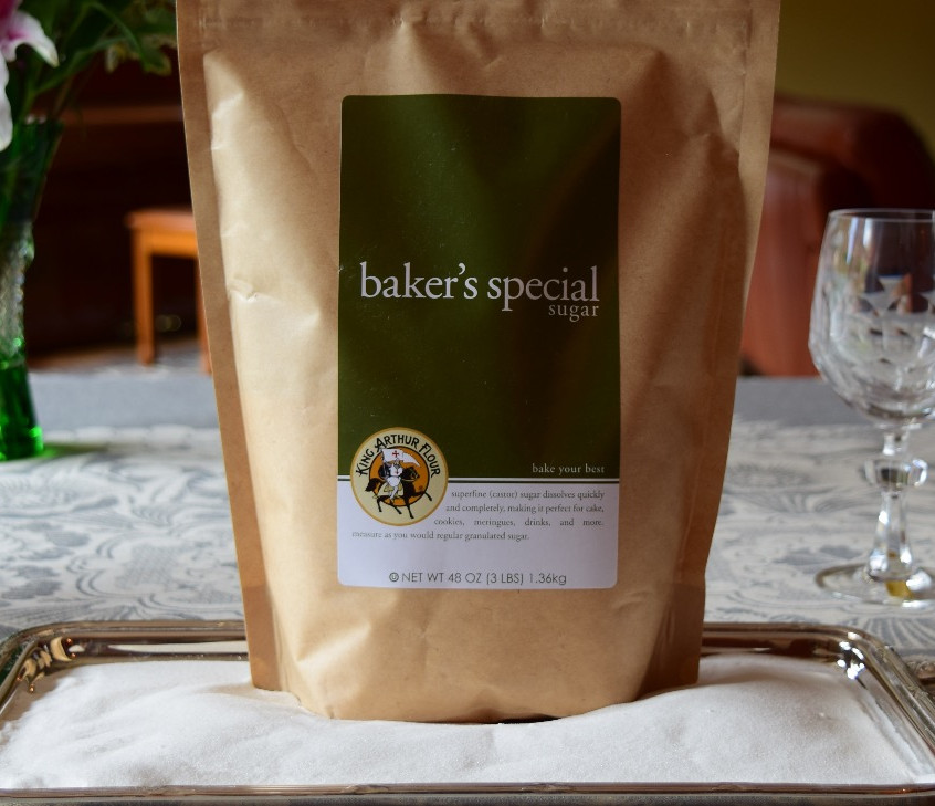 What is baker's special sugar? It is a refined sugar from cane that typically has crystal sizes from 0.1 to 0.2mm. Contains 99.95 percent sucrose. Also called as ultrafine, baker's sugar, or caster sugar.