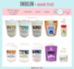 Inulin Comparison Chart | Blends with Monk Fruit