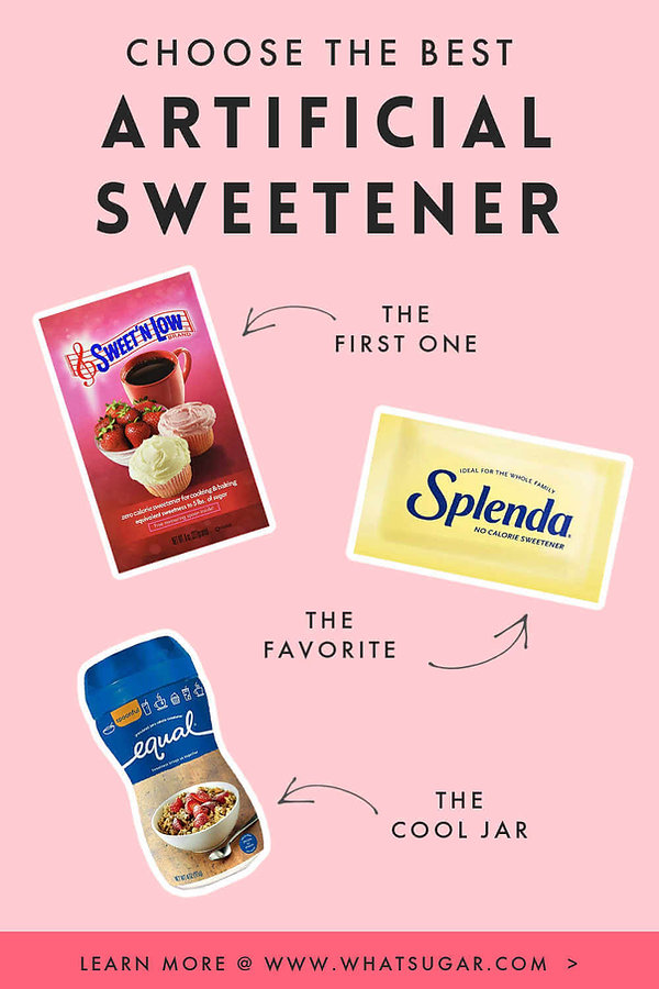 How to substitute artificial sweetener?